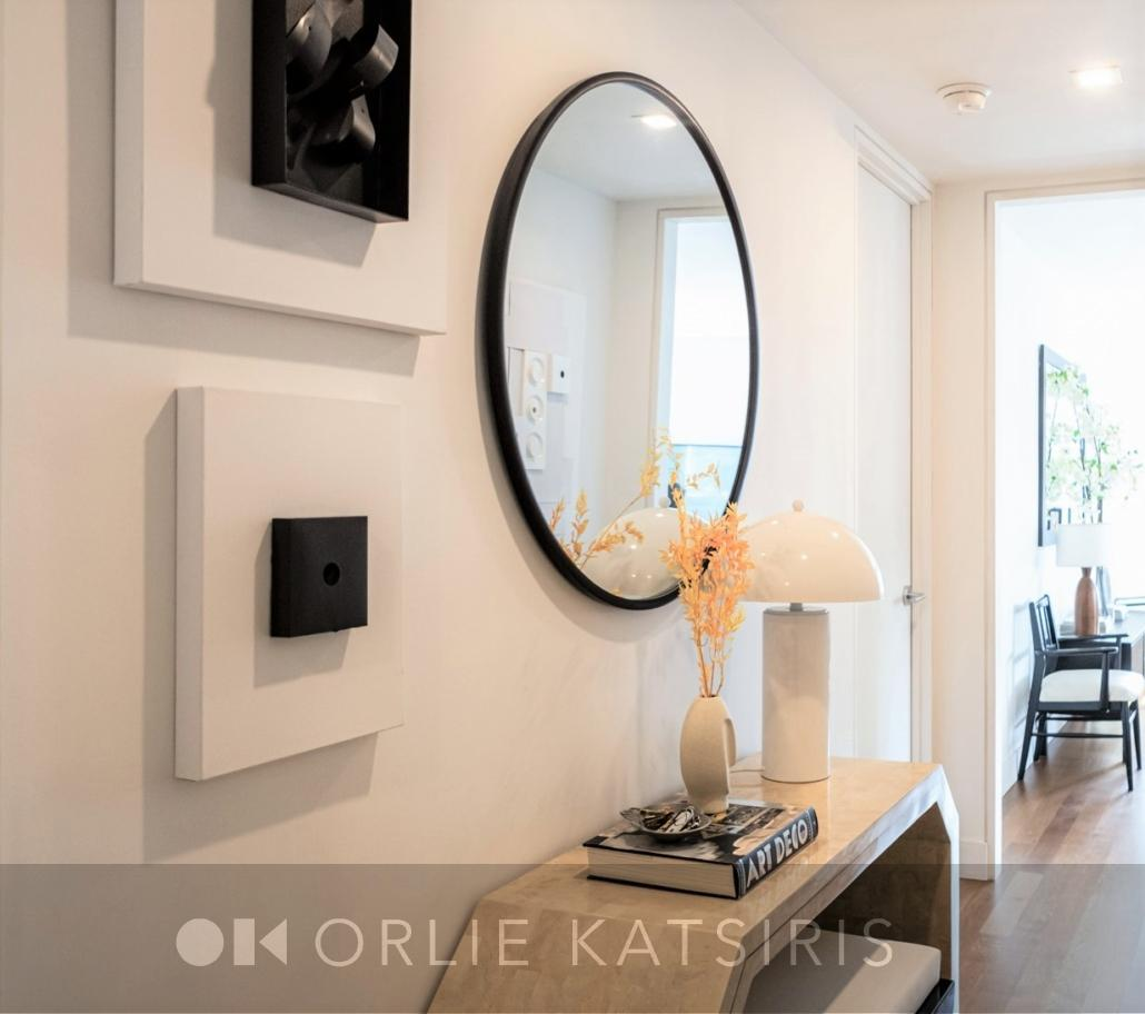 Foyer, Hallway & Entryway renovated, designed & styled by Orlie Katsiris Staging & Interiors