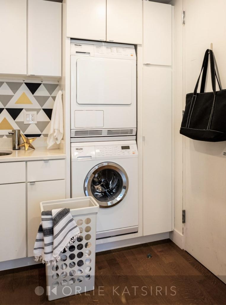 Laundry Room, Mudroom & Coat Room renovated, designed and styled by Orlie Katsiris Staging & Interiors