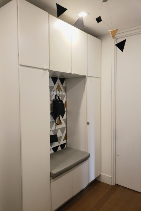 Mudroom, Coat Room & Storage Area, renovated, designed & styled by Orlie Katsiris Staging & Interiors