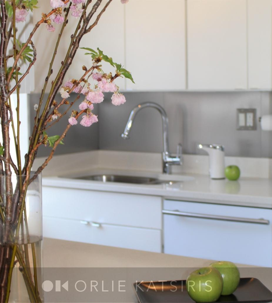 Kitchen renovated, designed & styled by Orlie Katsiris Staging & Interiors