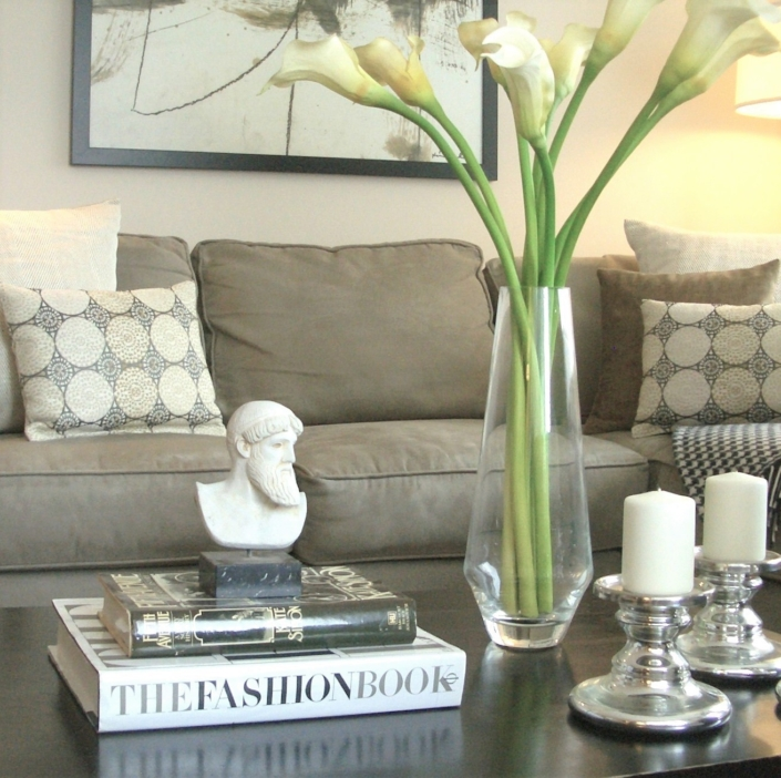 Living Room & Seating Area Renovated, Designed & Styled by Orlie Katsiris Staging & Interiors