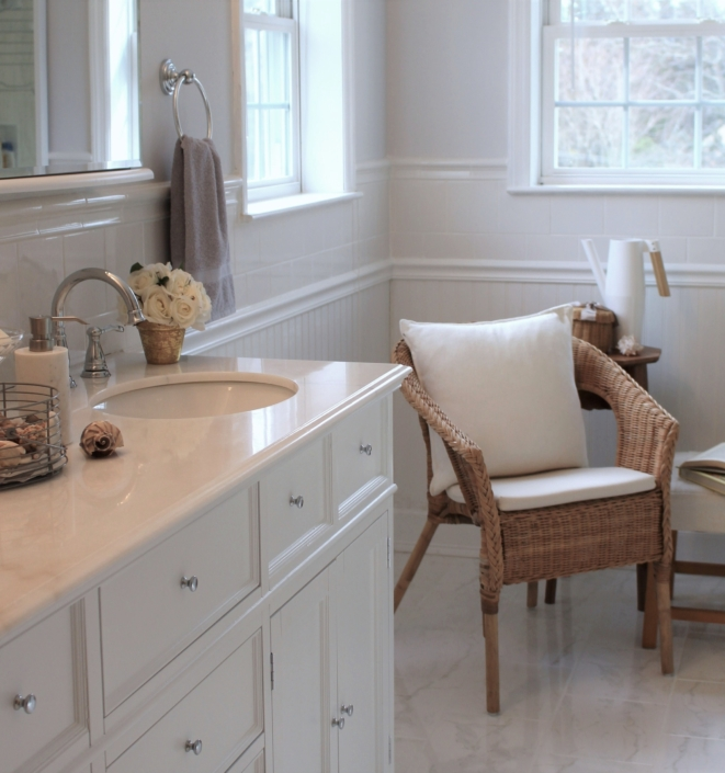 Bathroom & Master Bathroom renovated, designed & styled by Orlie Katsiris Staging & Interiors