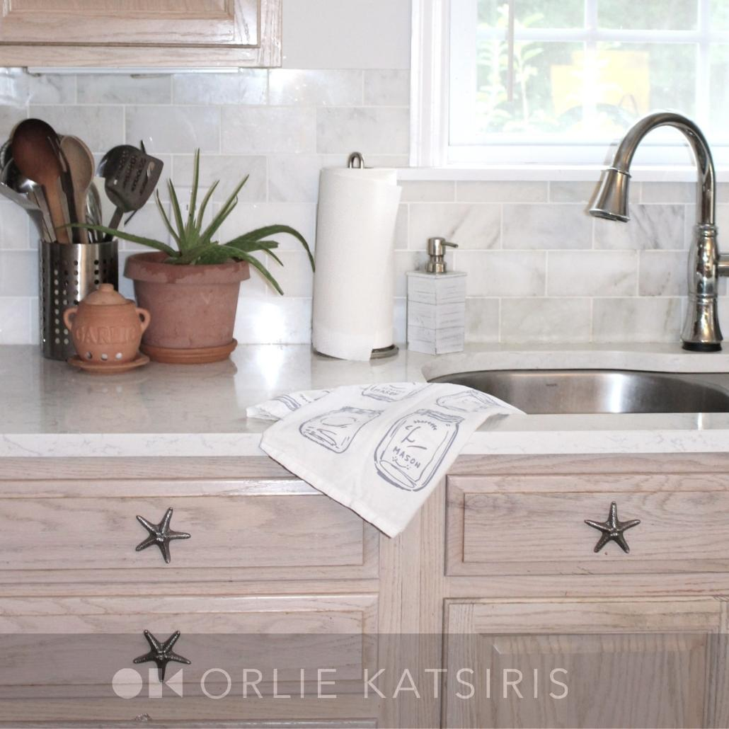 Kitchen & Sink Area renovated, designed and styled by Orlie Katsiris Staging & Interiors