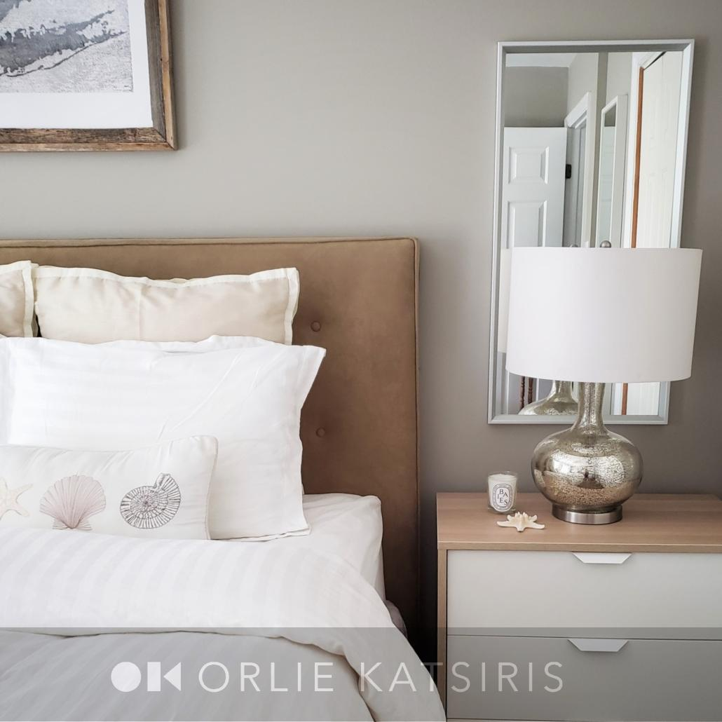 Bedroom & Master Bedroom renovated, designed and styled by Orlie Katsiris Staging & Interiors