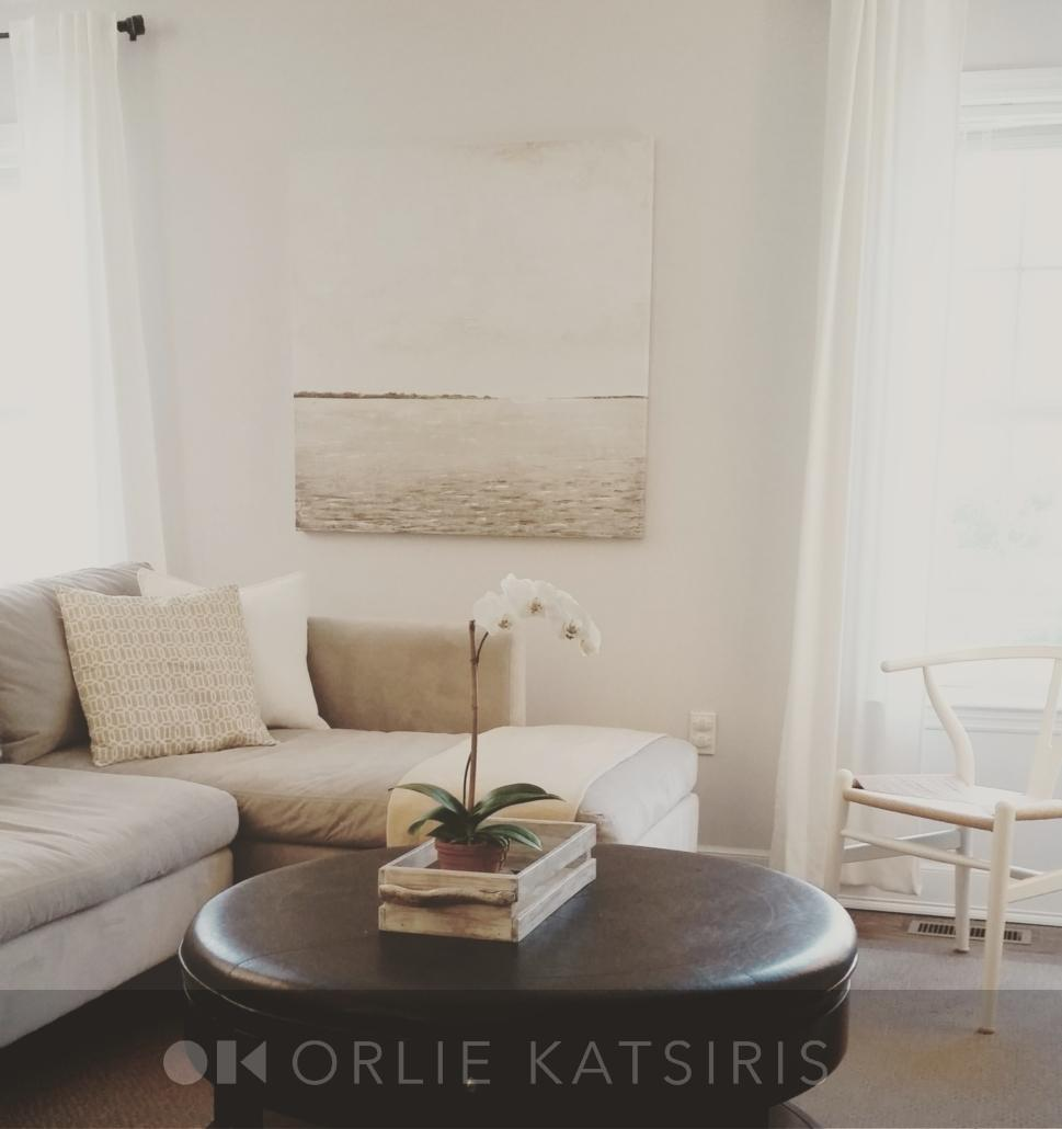Family Room, Living Room & Seating Area renovated, designed and styled by Orlie Katsiris Staging & Interiors