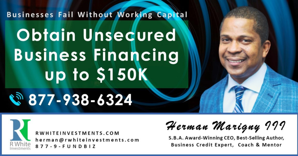 The # Unsecured Business Financing Program