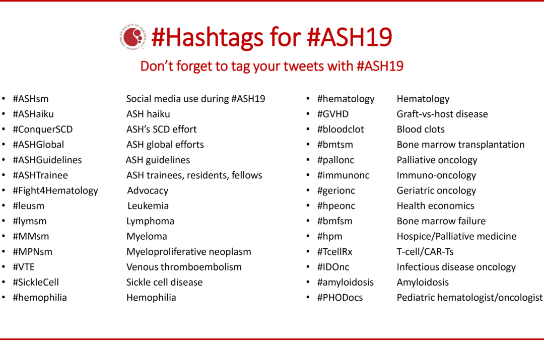 Your Social Media Guide to #ASH19