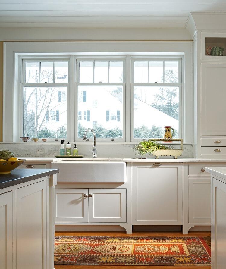 White Kitchen Double Hung