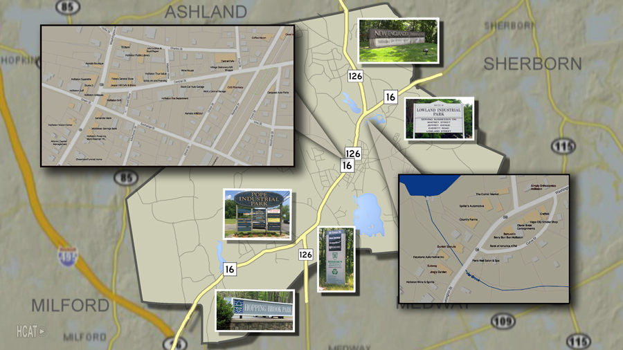 Holliston, MA Properties Map