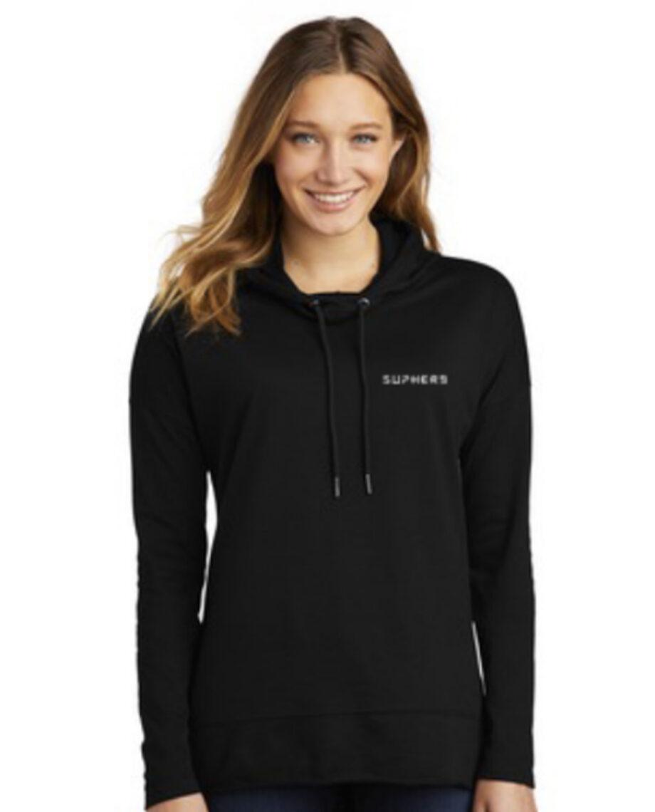 SUPHERB logo Hoodie (Female) BLACK
