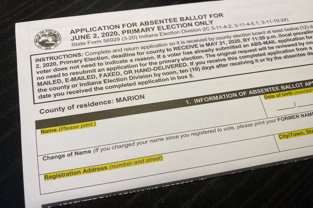 """<p>Application to vote by mail.</p> <p>""""><figcaption class="""