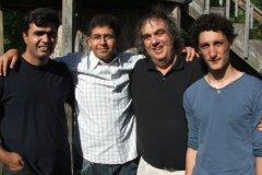 Sdiq, cello, Iraq; Zaid, flute, West Bank; Eric, coach, USA; Philip, piano, Israel