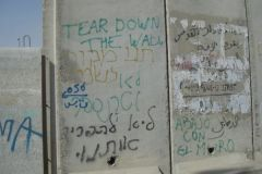 Tear Down the Wall in English, Hebrew, and Arabic