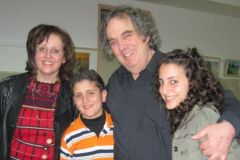 With Mutran young violinist and his mother and sister