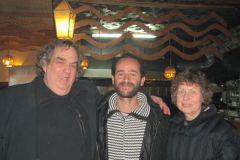 With Ramzi at restaurant in Ramallah