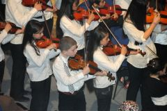 """Young musicians performing Steinmetz' """"Together"""" with Amman Symphony Orchestra"""