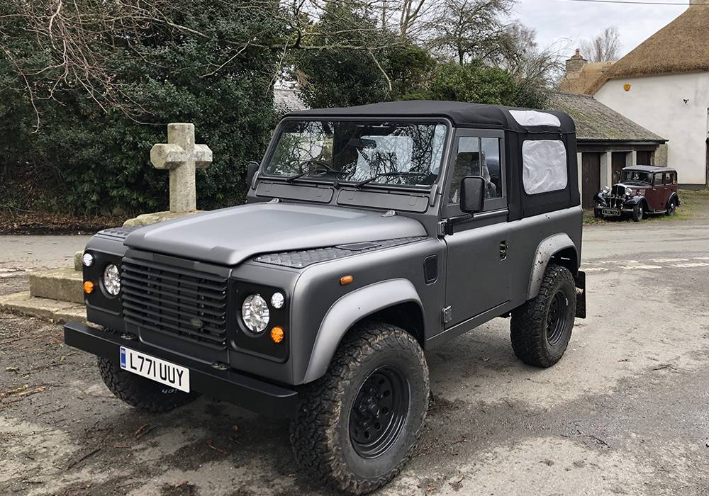 Grey 90 Old Car