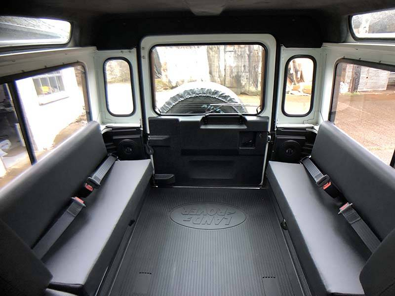 Landrover Defender 90 LHD Hard Top with Roll Cage in Arctic White 22 a
