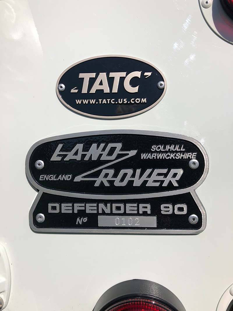 Landrover Defender 90 LHD Hard Top with Roll Cage in Arctic White 27 a
