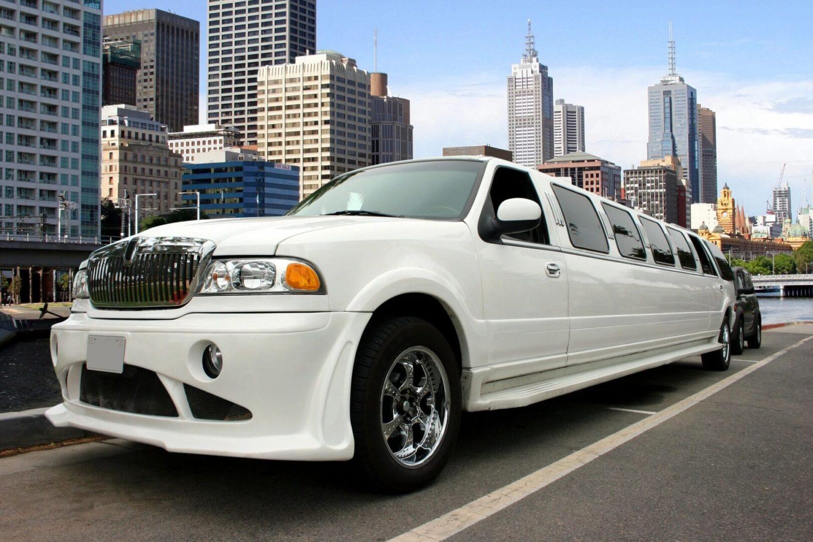 a white limousine