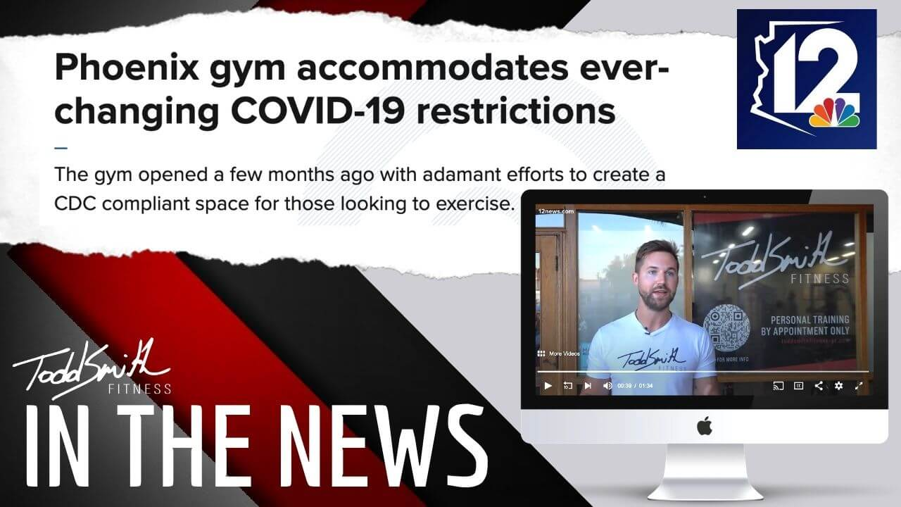 Todd Smith Fitness appears on 12 News