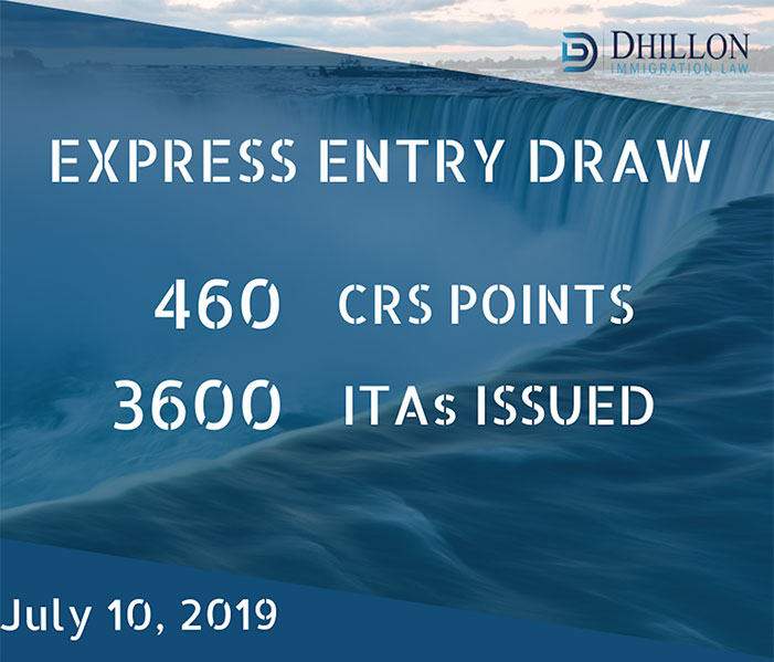 Express Entry Draw: July 10th, 2019