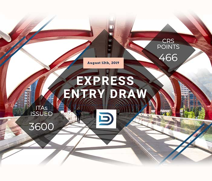Express Entry Draw: August 12, 2019