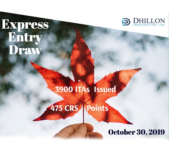 Express Entry Draw – October 30, 2019