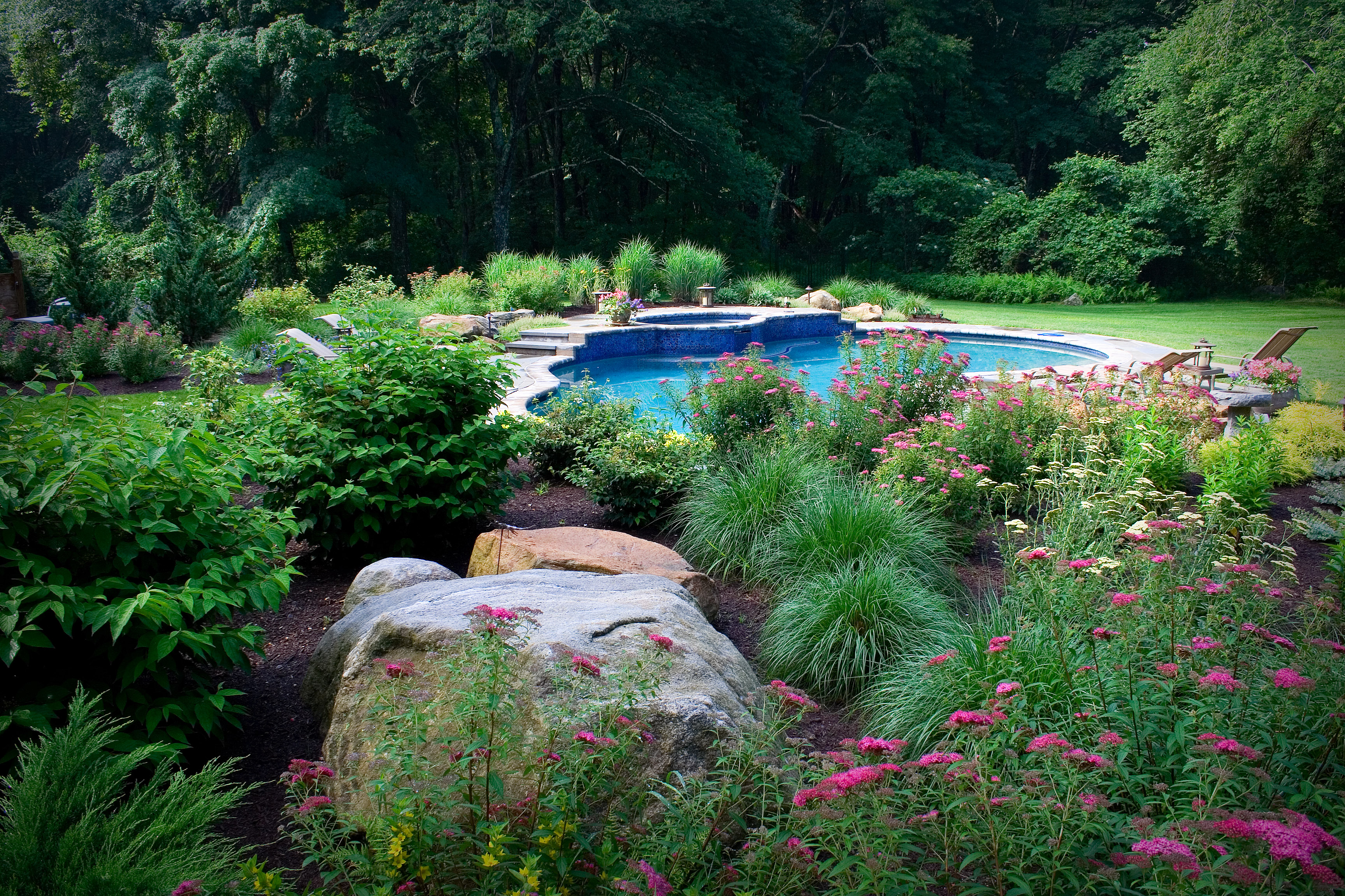 Constructed Pool with Natural Boulders