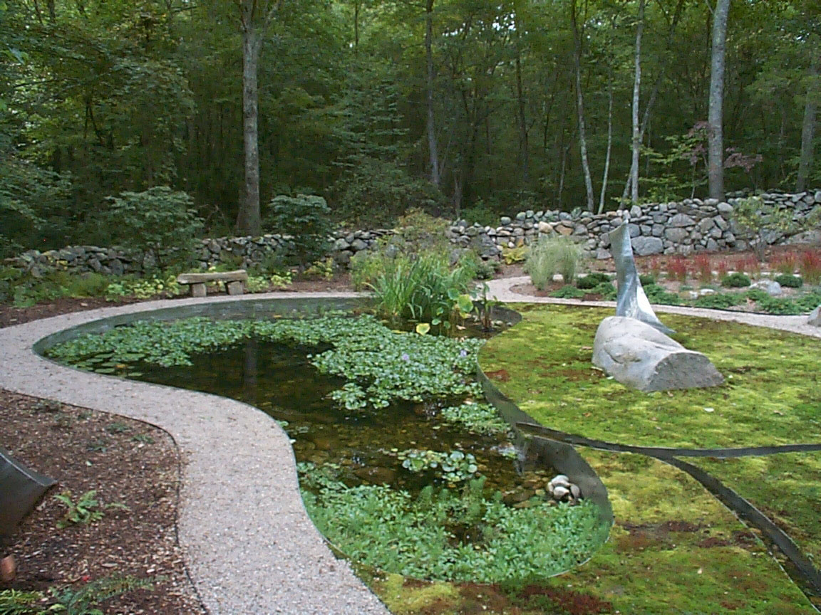 Backyard Pond - Landscaping Work Done by Burnett's Landscaping