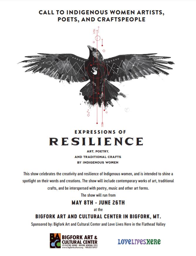 image of Expressions of Resilience show flyer and call to artists details