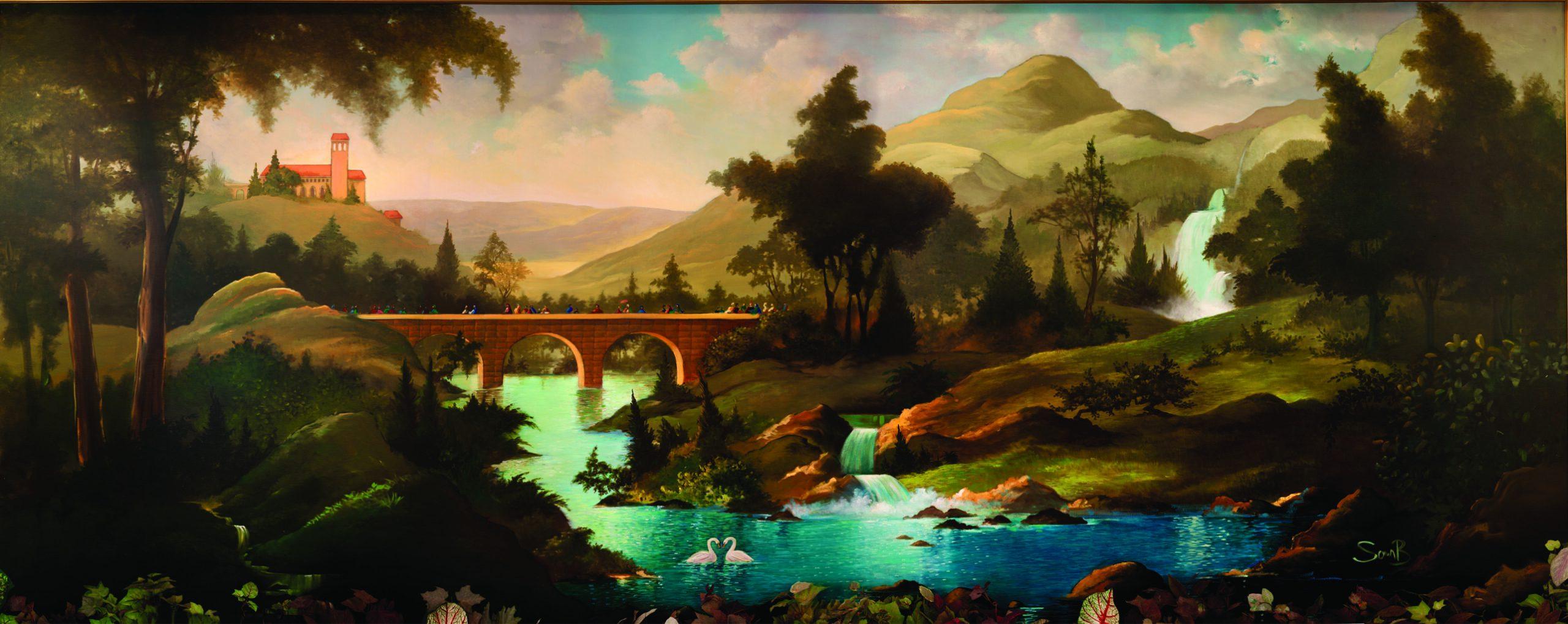 Bridge to Eternal God mural - C