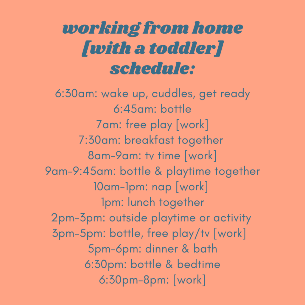 Working from Home with a Toddler Schedule