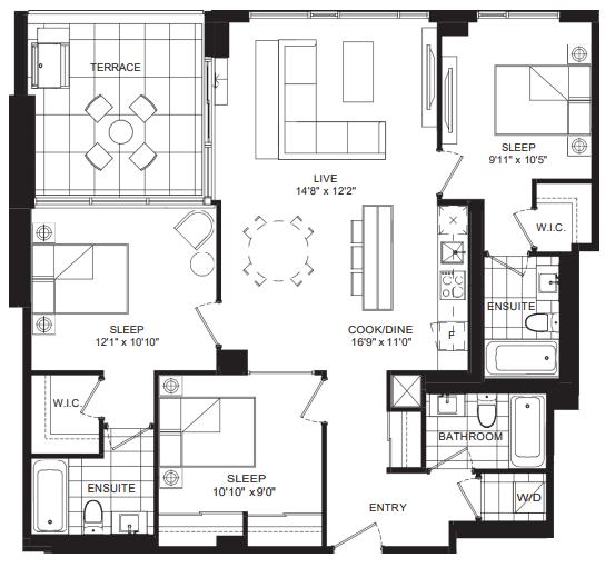 P1178 (3 Habitaciones / 3 baños