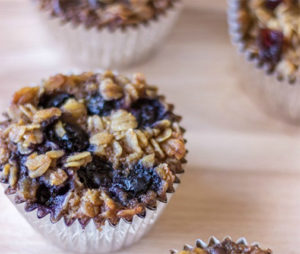 Baked Oatmeal Fruit Cups from The Wholesome Dish