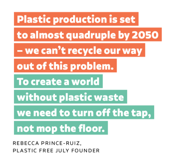 plastic free july quote
