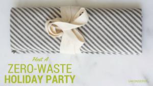 zero-waste holiday party