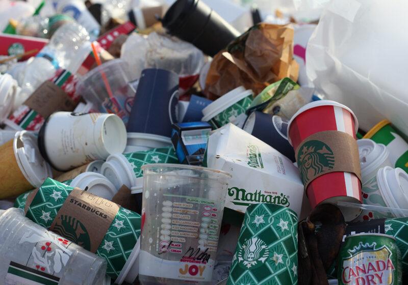 coffee cup trash