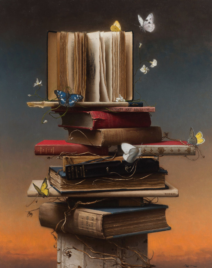 Books and butterflies-28x22-2015