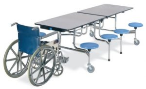 wheelchair ADA cafeteria tables indianapolis