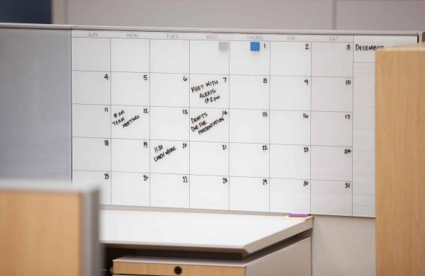 Glassboard Calendar