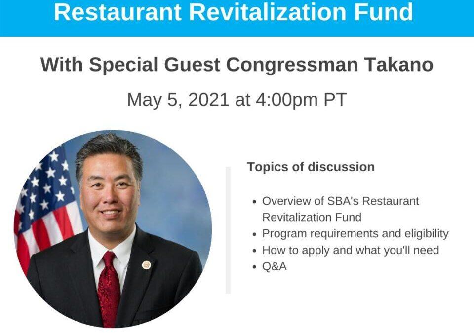Restaurantes: Una descripción general del Fondo de revitalización de restaurantes de la SBA – WEBINAR