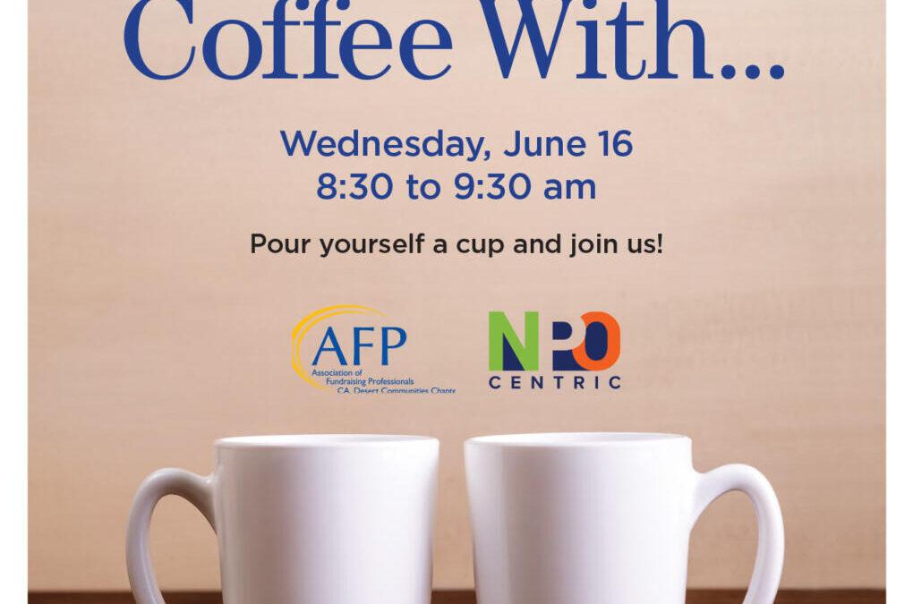Coffee with… este miercoles 16 Junio