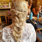 Tahoe Wedding Bride Hair with Beautiful Loose Braids and Accents