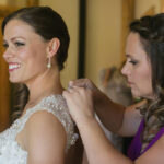 Beautiful Makeup and Updo Hairstyle for Bride at The Hideout Wedding