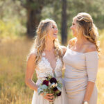 Half Up, Half Down Bridal Hairstyle with Braid and Curls for Lake Tahoe Wedding