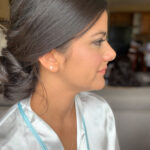 Tahoe Wedding Bridal Hair Styled Up