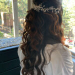 Half Up, Half Down Hairstyle for Beautiful Lake Tahoe Bride