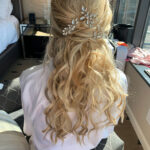 Half Up, Half Down Hairstyle for Lake Tahoe Wedding Bride, Kari