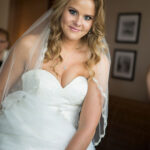 Lake Tahoe Bride, Kari, with Loose Curls Hairstyle, and Makeup for Wedding